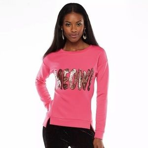 Juicy Couture Glam Pink Sweatshirt with Sequins M